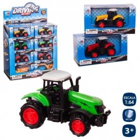 Tractor Rueda Libre Metal 3/c 8 Cm  Originales y Divertidos