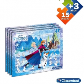 Puzzle 15 Pcs Frozen  Puzzles Regalitos 6,11 €