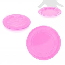 Pack de Platos de Cartón Color: rosa-fucsia, rojo, rosa, azul