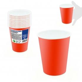 Pack de Vasos Desechables para Fiestas Color: rojo, rosa-fucsia