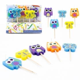 Set de Cinco Velas Búhos y Mariposas 1.27 €