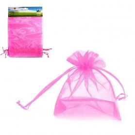 Pack de Bolsas de Organza Rosa de 17x23