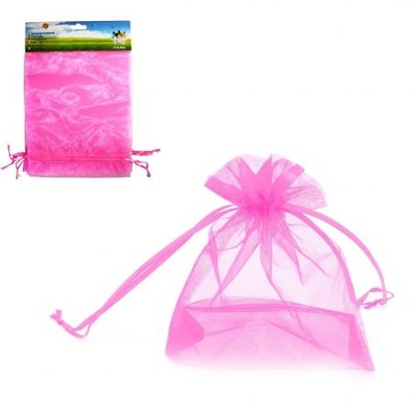 Pack de Bolsas de Organza Rosa de 17x23 Bolsas Organza 17x23
