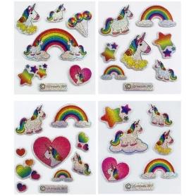 Pack Adhesivos de Unicornios  Originales y Divertidos Niños