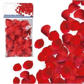 Pétalos de Tela Rojo  Pétalos y cofetis para Bodas Decoración
