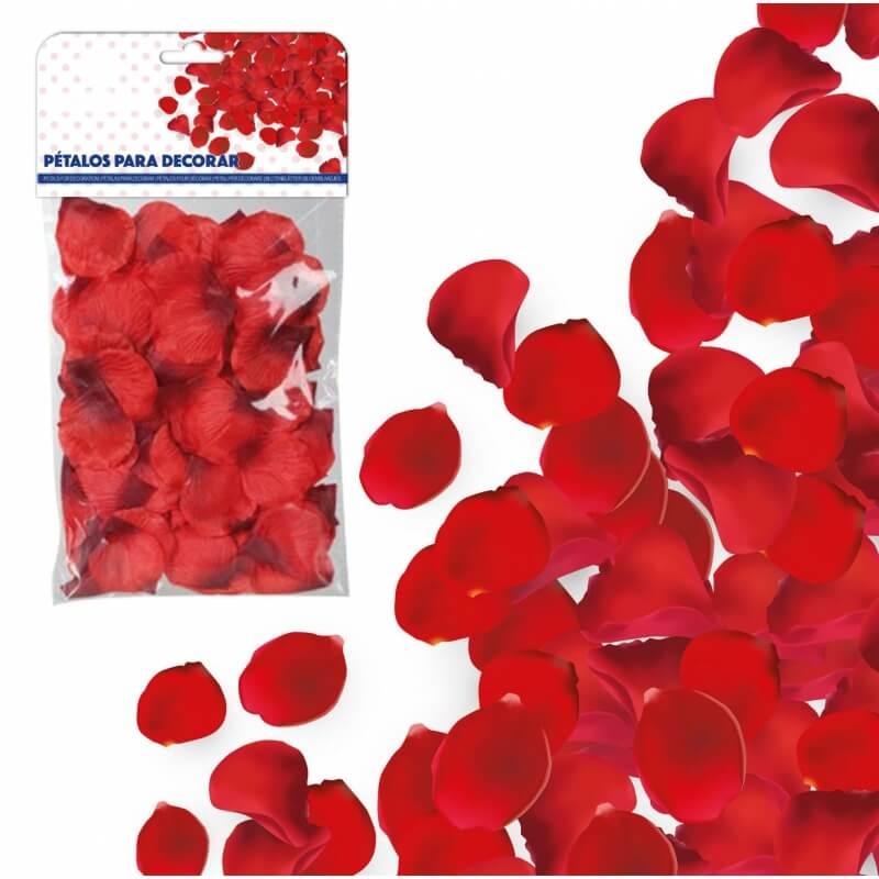 Pétalos de Tela Rojo Pétalos y cofetis para Bodas Decoraciones