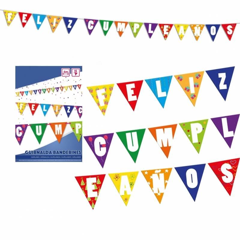 Guirnalda Feliz Cumpleaños Banderines y Guirnaldas para