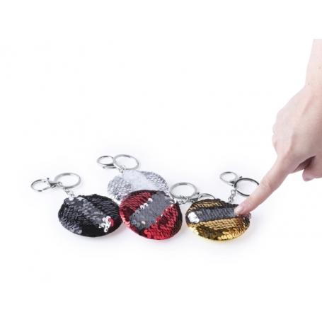 Llavero lentejuelas Color: plata, dorado, negro, rojo Llaveros