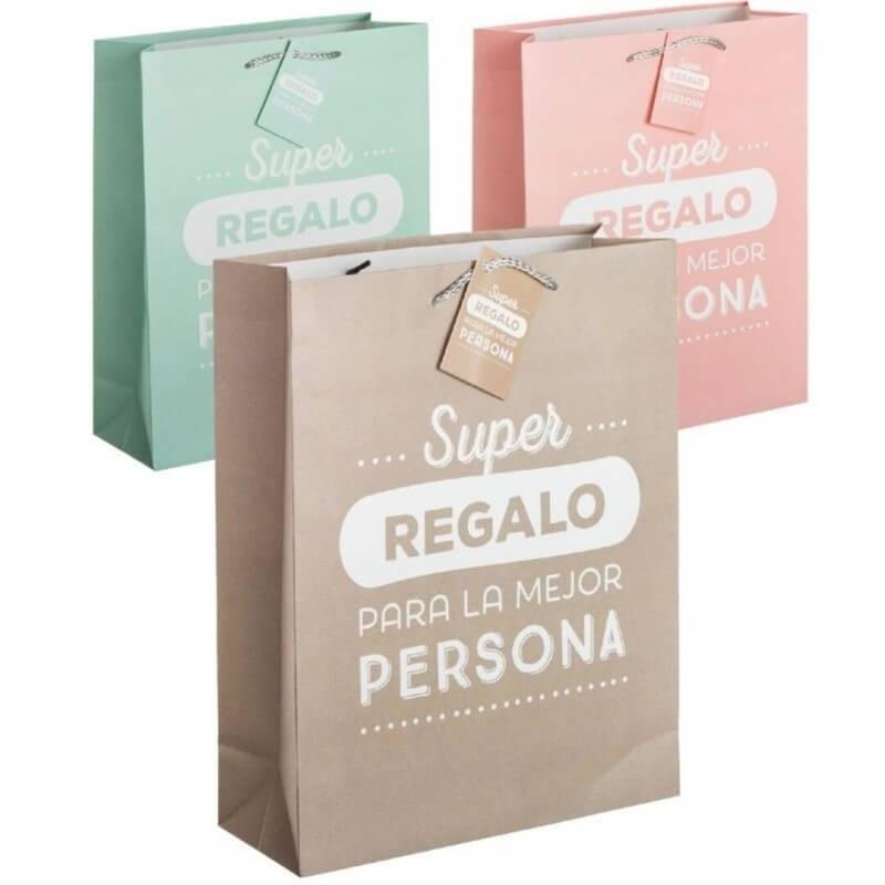 Bolsas de papel bonitas grandes  Bolsas Papel