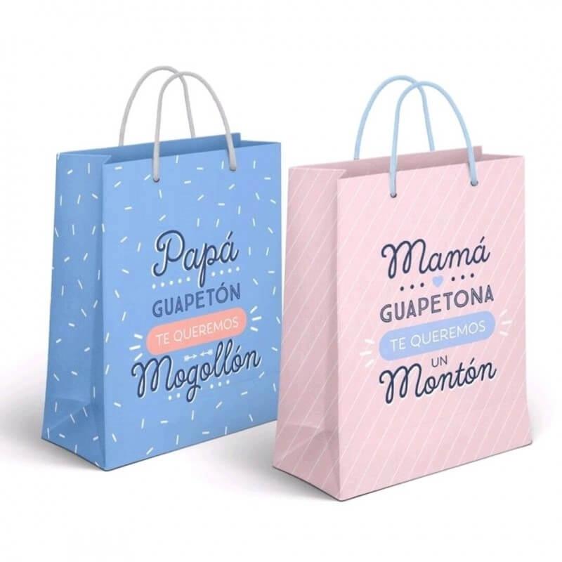 Bolsas de regalo con mensajes pequeña