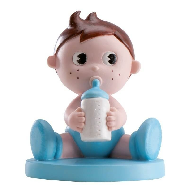 Figura para tarta nene con bibi  Figuras Tarta Bautizo