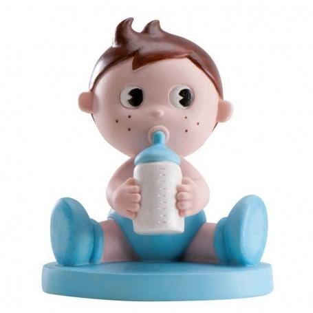 Figura para tarta nene con bibi Figuras tarta Detalles Bautizo
