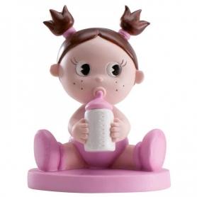 Figura para tarta bautizo nena con bibi