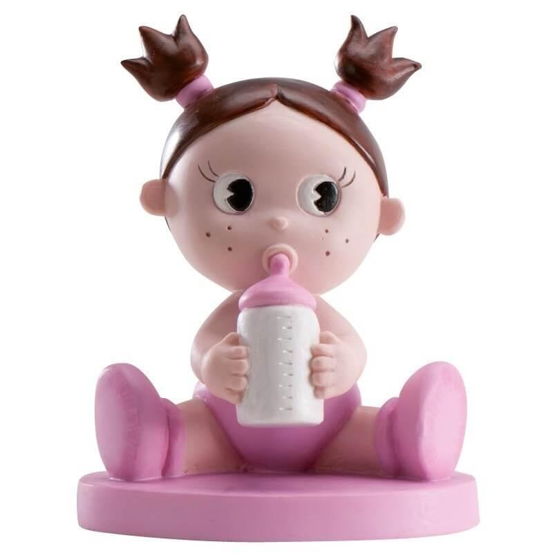 Figura para tarta bautizo nena con bibi  Figuras Tarta Bautizo