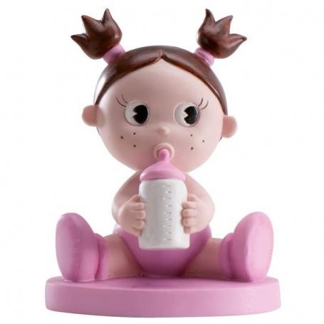 Figura para tarta bautizo nena con bibi Figuras tarta Detalles