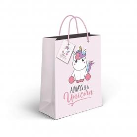 Bolsa unicornio bonita pequeña  Bolsas Papel