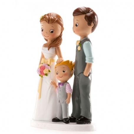 Figuras novios con niño Figuras Tarta Necesarios Boda
