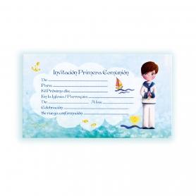 Invitación comunión marinero Invitaciones y Recordatorios