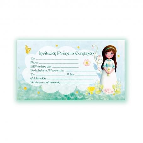 Invitación comunión niña Invitaciones y Recordatorios Detalles