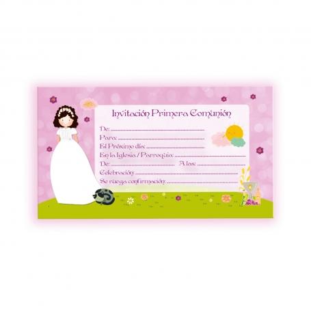 Invitación niña comunión Invitaciones y Recordatorios Detalles