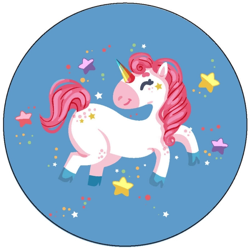 Pegatina unicornio