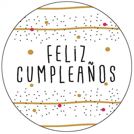 Etiqueta de cumpleaños Adhesivos y Tarjetas Detalles Cumpleaños