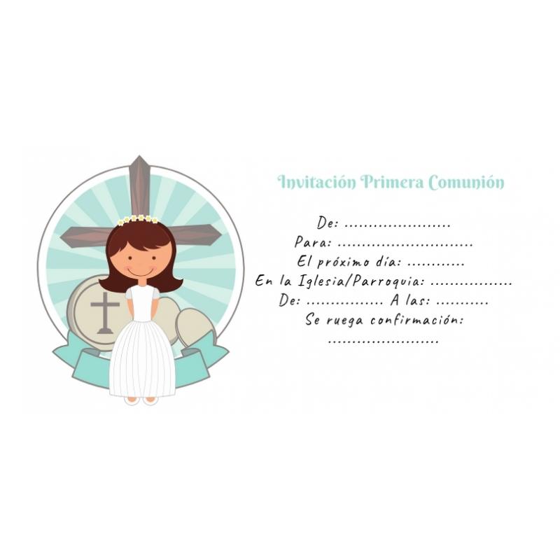Invitación Comunión para rellenar Invitaciones y Recordatorios