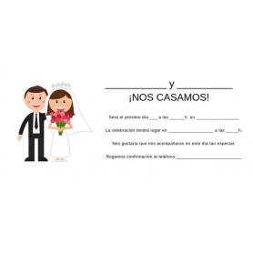 tenerife Invitaciones boda para rellenar en Canarias