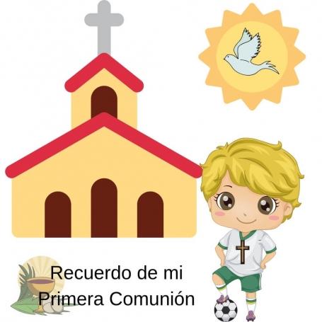 Communion soccer sticker