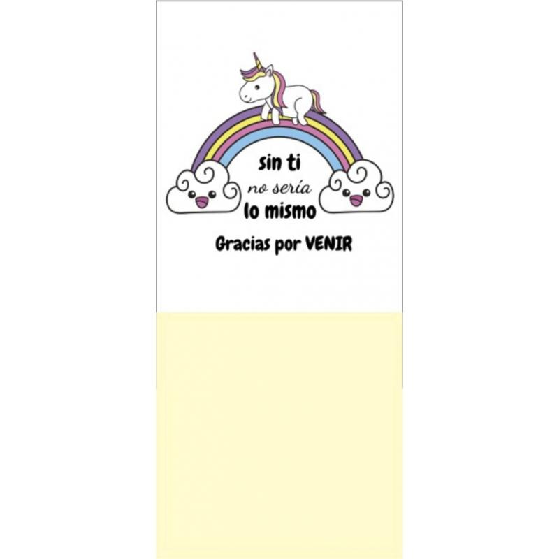 Notas adhesivas unicornio Boligrafos y Libretas Detalles Boda