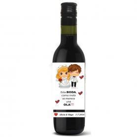 Botella vino personalizada bodas Licores y Vinos Detalles Boda