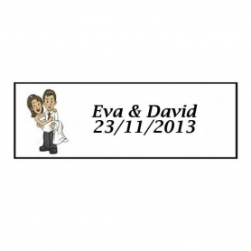 Etiqueta Adhesiva Will & Grace en Boda