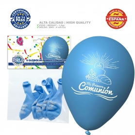 Blue communion balloons pack