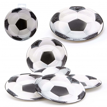 Pack de platos fútbol Menaje Desechable para Bautizos