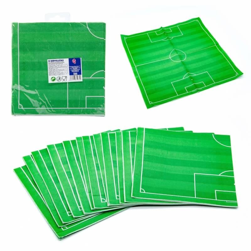 Pack de servilletas fútbol Menaje Desechable para Comuniones