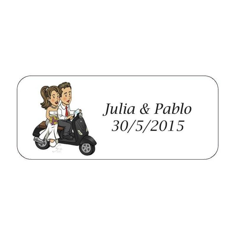 Etiqueta Adhesiva Will & Grace Moto  Etiquetas