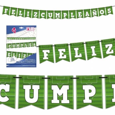 Guirnalda de fútbol Banderines y Guirnaldas para Cumpleaños