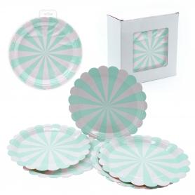 Pack platos desechables verde