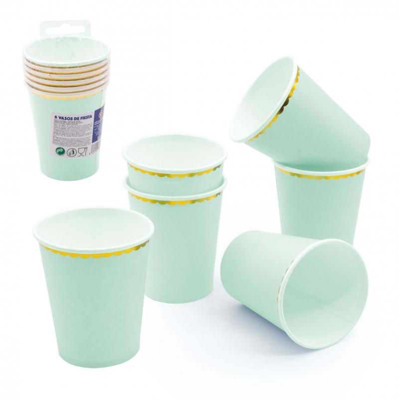 Pack vasos color verde