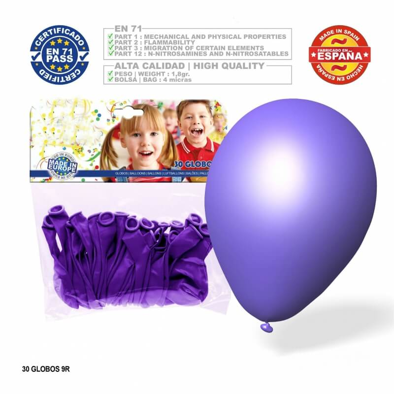 Pack globos lila