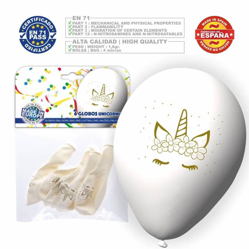 Pack globos unicornio