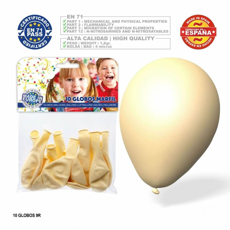 Pack globos color marfil