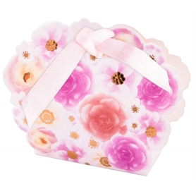 Caja estampado flores