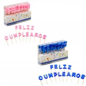 Pack velas Feliz Cumpleaños