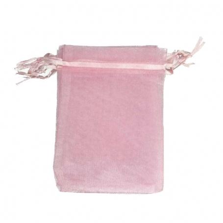 Bolsa de Organza Rosa 9 x 15