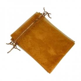 Bolsa de organza chocolate 9 x 15