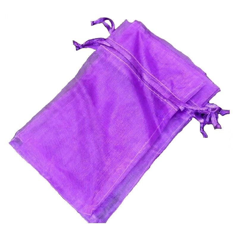 Bolsa de organza lila oscuro 9 x 15
