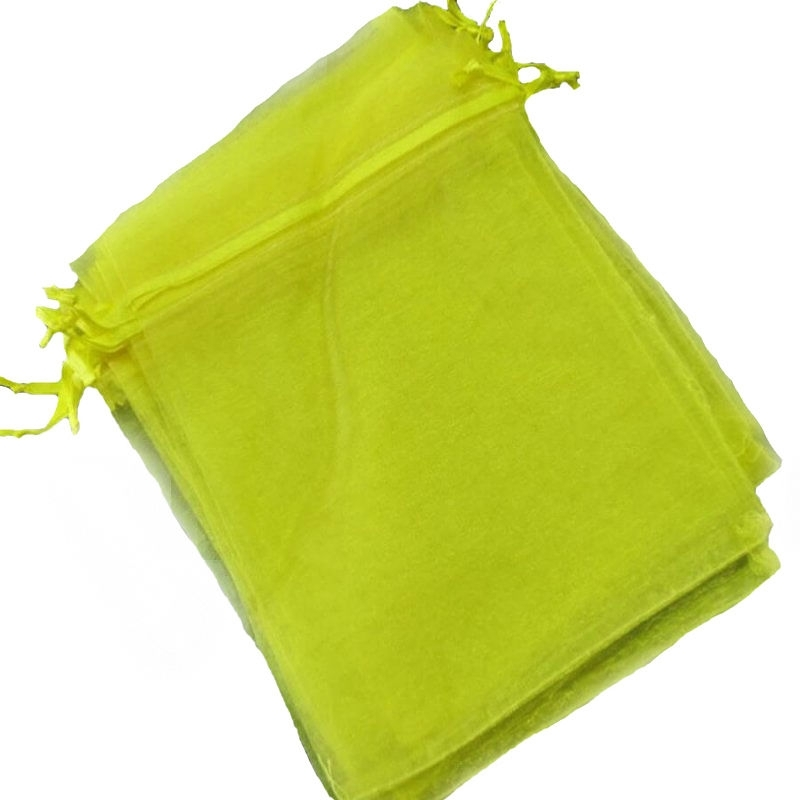 Bolsa de organza amarilla 13 x 17