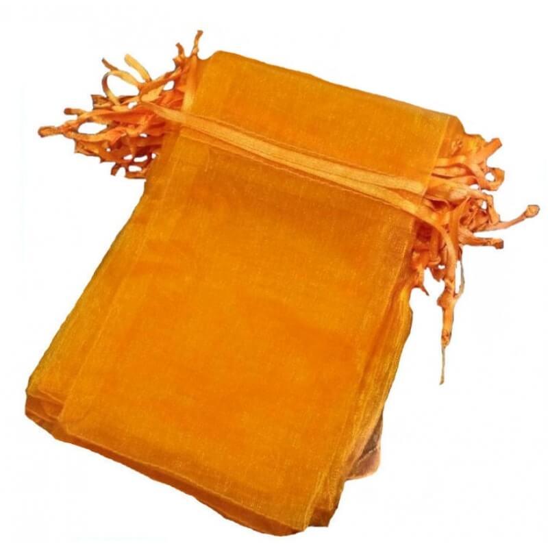Bolsa de organza naranja oscuro 13 x 17
