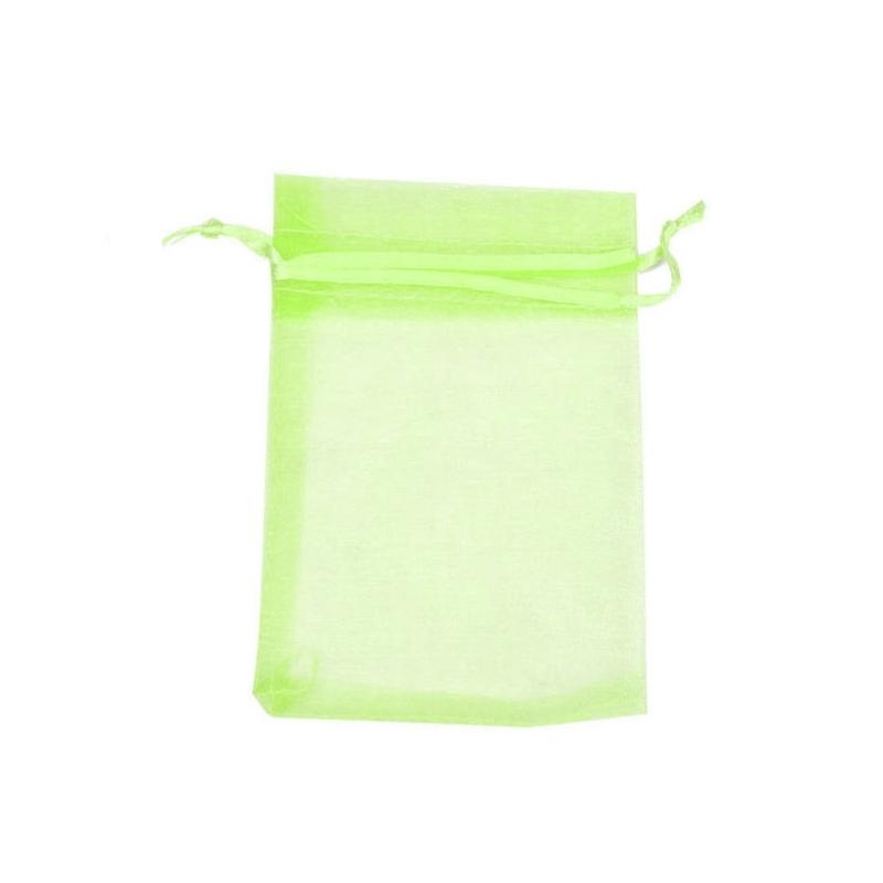 Light green organza bag 7x10